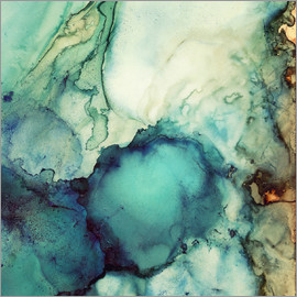 SpaceFrog Designs - Teal Abstract Painting