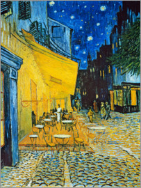 Vincent van Gogh - Cafe Terrace on the Place du Forum in Arles in the evening