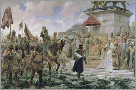 José Moreno Carbonero - The Arrival of Roger de Flor in Constantinople in 1303 with 8000 'Almogavares' serving the Byzantine