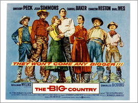 THE BIG COUNTRY, Charles Bickford, Charlton Heston, Carroll Baker, Gregory Peck, Jean Simmons, Burl