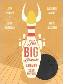 Golden Planet Prints - The big lebowski movie art inspired