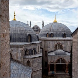 Alex Saberi - The Blue Mosque viewed over the domes of the Hagia Sophia.