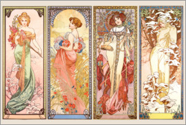 Alfons Mucha - The Four Seasons, Series 1900