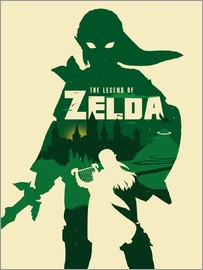 Golden Planet Prints - The Legend of Zelda minimalist art