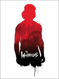 Golden Planet Prints - The warriors illustration art movie inspired