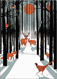 Ikon Images - Animals in the winter forest