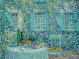 Henri Le Sidaner - Table in the sun among the leaves