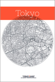 campus graphics - Tokyo Card City Black and White