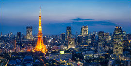 Jan Christopher Becke - Tokyo skyline with Tokyo Tower at night