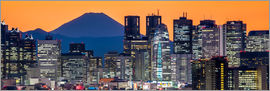 Jan Christopher Becke - Tokyo skyline panorama at night with Mount Fuji in the background