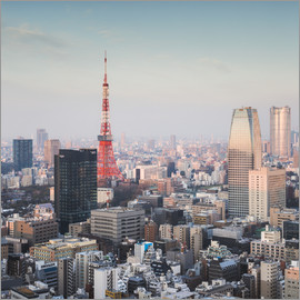 Matteo Colombo - Tokyo tower and skyline at sunrise, Japan