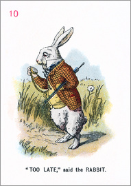 John Tenniel - Too Late, said the Rabbit