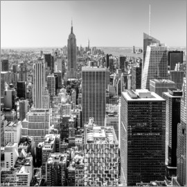 newfrontiers photography - Top of the Rock - New York City (schwarz weiß)