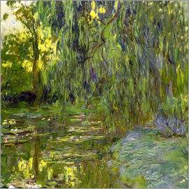 Claude Monet - Trauerweide, Der Seerosenteich in Giverny, c.1918