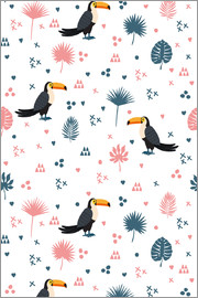 Toucans and plants