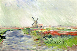Claude Monet - Tulpenfeld in Holland