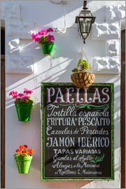 Matteo Colombo - Typical whitewashed ornate wall and paella sign, Andalusia Spain