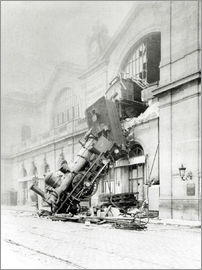 Unfall am 22. Oktober 1895 in der Gare Montparnasse in Paris