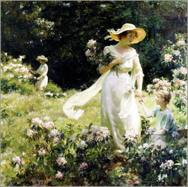 Charles Courtney Curran - Unter den Laurel Blüten