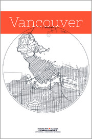 campus graphics - Vancouver Map City Black and White