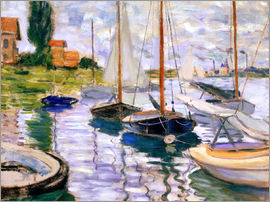Claude Monet - Vergnügungsboote in Argenteuil