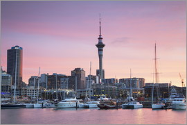 Ian Trower - Viaduct Harbour & Sky Tower, Auckland