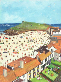 Judy Joel - View from the Tate Gallery St. Ives