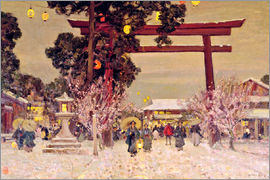 Sir Alfred East - View of a Shinto Shrine, c.1889