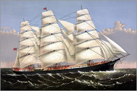 John Parrot - Vintage print of the Clipper ship Three Brothers.