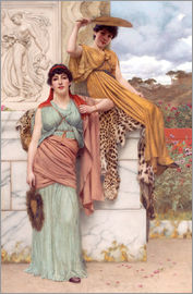John William Godward - Waiting for the procession, 1890