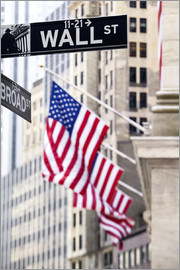 Wall Street-Zeichen mit New York Stock Exchange