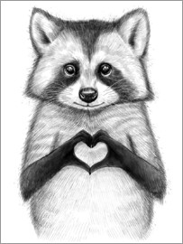Nikita Korenkov - Raccoon with heart