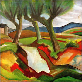 August Macke - Weiden am Bach