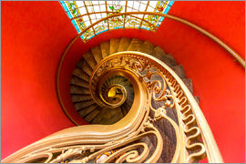 Spiral staircase in Brittany