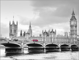 Edith Albuschat - Westminster Bridge mit Blick auf Big Ben und House of Parlament
