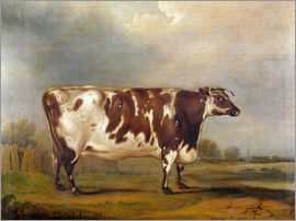 Thomas Weaver - Wildair, an eight-year-old heifer in a river landscape, 1827