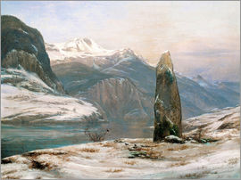 Johan Christian Clausen Dahl - Winter am Sognefjord