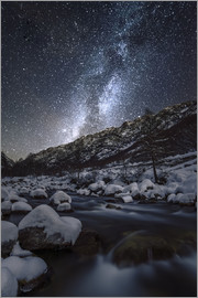 age fotostock - Winter starry night