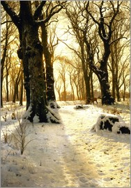Peder Mork Monsted - Winterwald mit Reh