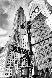 newfrontiers photography - Wolkenkratzer in New York - Chrysler Building (monochrom)