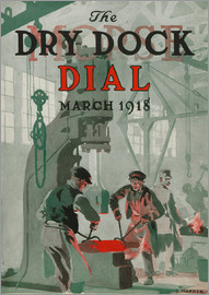Edward Hopper - Workers at shipyard, front cover of the 'Morse Dry Dock Dial'
