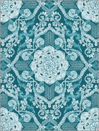 Micklyn Le Feuvre - Zentriert Spitze in Sea Green Teal