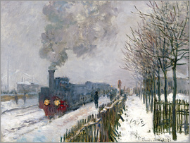 Claude Monet - Train in the Snow (The Locomotive)