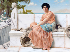 John William Godward - Zur Zeit Sapphos
