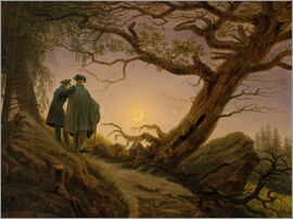 Caspar David Friedrich - Two men contemplating the moon
