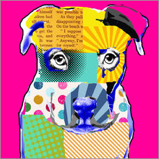 Wandsticker  Pop Art Bulldogge - GreenNest