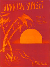 Leinwandbild  Hawaii-Sonnenuntergang - Entertainment Collection