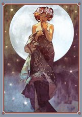Gallery Print  Der Vollmond, Adaption - Alfons Mucha