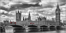 Wandsticker LONDON Westminster Bridge Panorama