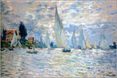 Holzbild  Regatta in Argenteuil - Claude Monet